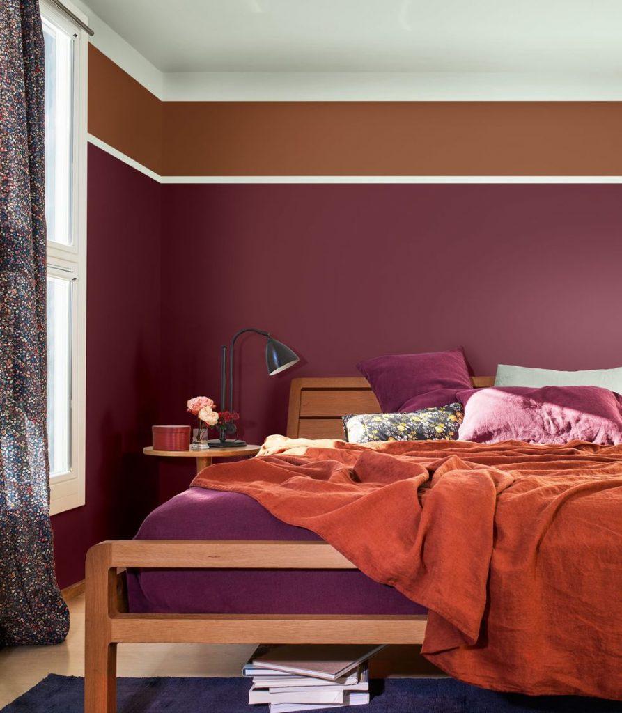 inspirasi dekorasi rumah mungil - warna blok cat dinding