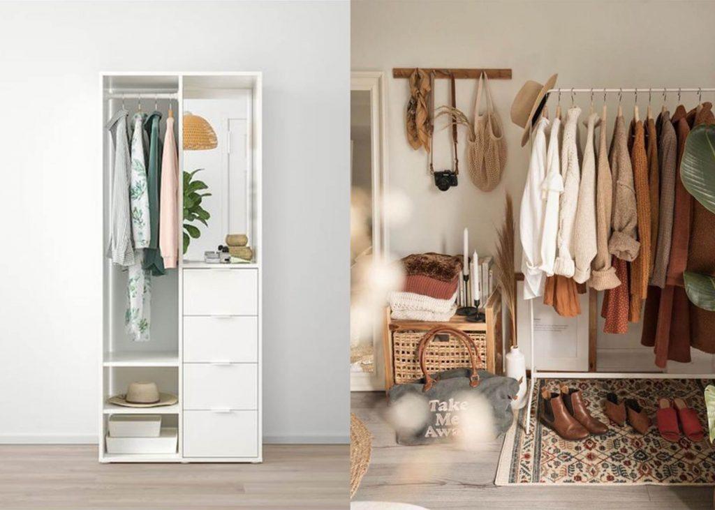 lemari pakaian kost sederhana nyaman