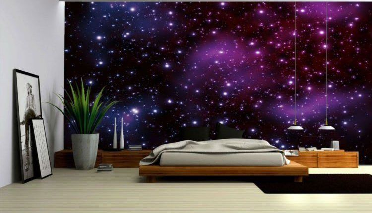 Kombinasi Warna Cat Rumah Hijau Tua  bikin kamar impian dengan cat tembok corak galaxy produk