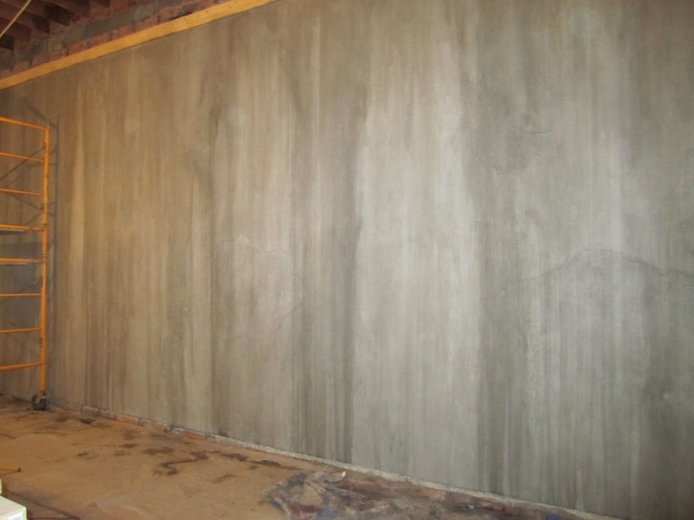 Selesai Dinding Beton Tiruan