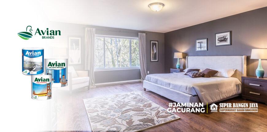 cat kamar tidur menenangkan - Avian - Superbangunjaya.com